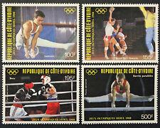 Timbre COTE D'IVOIRE / IVORY COAST Stamp - YT Aériens n°117 à 120 n** (COT1)