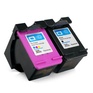 BLACK & COLOUR INK CARTRIDGE REFILLED COMPATIBLE WITH HP 305XL HP 305 XL VERSION
