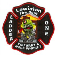 Lewiston Fire Department Ladder One Patch Maine ME