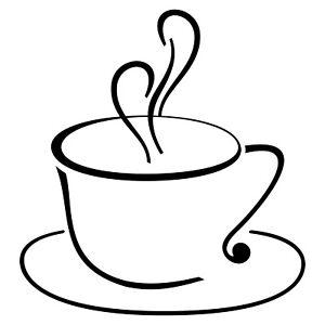 Cup 50cm Cappuccino Coffee Sticker Tattoo Foil Ice Cafe Display Window Car