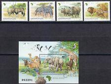 Hungary 1997 MNH Mi 4450-4453 Block 242 Sc 3572-3576 African animals. WWF **