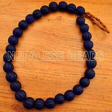 "Old Melon Glass Beads Necklace 25"" Tibetan Nepalese Handmade  UN1092"