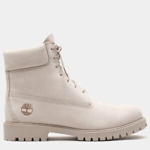 Timberland 6 Inch Heritage Boot for Men - Beige - Premium Nubuck Leather