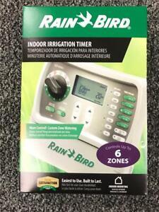 * Rain Bird Indoor Irrigation Timer SST-600IN Controls Up to 6 Zones