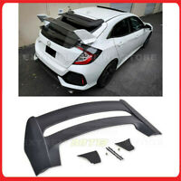 For 16-19 Civic FK4 FK7 Hatch SPOILER-203-ABS JDM MUGEN Style Rear Roof Spoiler