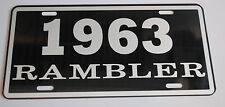 METAL LICENSE PLATE 1963 63 RAMBLER NASH AMC AMERICAN MOTORS 660 440