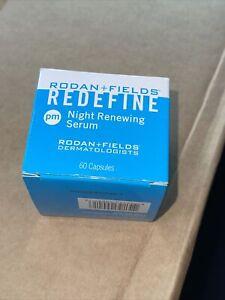 Rodan + and Fields Redefine Night Renewing Serum PM 60 Capsules New