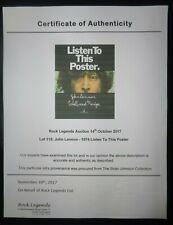 Beatles John Lennon 1974 Walls And Bridges Listen To This Poster Apple Records