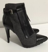 calvin klein Makena Leather women pointy toe bootie heels black size 5 black