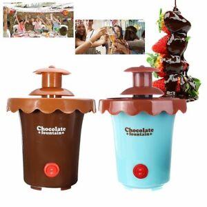 Mini Chocolate Fountains 2 Tiers Fondue Maker Melting Machine Party Waterfall