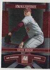 2010 DONRUSS ELITE BASEBALL Card Seth Rosin RC Prospect San Francisco Base