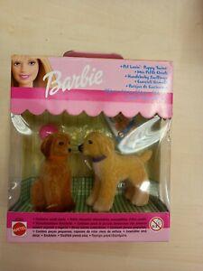Mattel barbie pet lovin' puppy dog 1999 Afghan twins