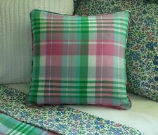 NEW Custom Ralph Lauren Caitlin Throw Pillow 16 inch Plaid Invis Zipper Closure