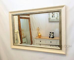 John Lewis Orabelle Bevelled Wall Mirror Ivory Gilt Effect Wood Frame 75x107cm