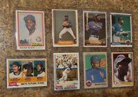8) Mookie Wilson 1981 Topps Donruss Rookie RC card lot Mets 1982 1983 1984 Fleer