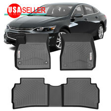 Floor Mats For 2016-2019 Chevy Malibu Heavy Duty Rubber All Weather Protection