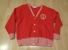 Women's Molto Fino M Red Vintage Snap Up Sweater