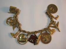 Masonic Shrine Gold Filled Vintage Charm Bracelet with 2 10k Gold Charms   T*