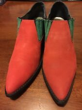Endicott Johnson Tri-color Suede Boots Booties Sz 8.5