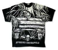 Avenged Sevenfold Alchemist All Over Print Black T Shirt New Official Adult A7X