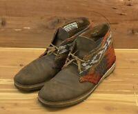Clark's Originals Brown Leather Desert Ankle Chukka Boots Men's 10.5M