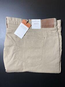 RM Williams Mens Ramco Denim Jeans Size 54 32 Regular Fit Tapered Leg Beige