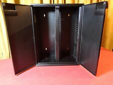ALPHA BLACK PLASTIC 30 CD STORAGE RACKS HOLDERS WALL MOUNT TABLE TOP