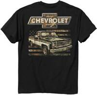 Chevrolet Mens Graphic Tee Chevy 73 Camo Flag T-shirt Adult Size