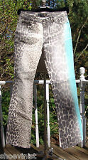 Roberto Cavalli Just Cavalli Animal Leopard Print Womens Jeans Made In Italy 31