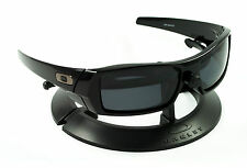 OAKLEY GASCAN POLISHED JET BLACK FRAME / REVANT STEALTH POLARIZED CUSTOM LENSES