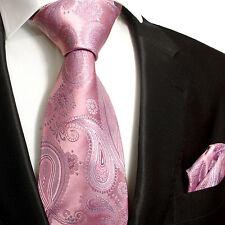 Pinke paisley Krawatten Set 2tlg Seidenkrawatten 686