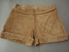 NIB Women's Hue Wide Wale Corduroy Shorts Size Small Camel #580B