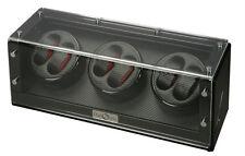 Diplomat Black Wood Six 6 Automatic Watch Winder Carbon Fiber Storage Box