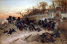 """Alphonse De Neuville 1870 Franco Prussian War, 12x8"""" Print Longboyoau's Gate"""