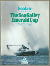 1982 The Sea Galley Emerald Cup Unlimited Hydroplane Race Program