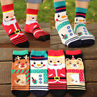 Christmas Gift Women Winter Warm Cotton Socks Santa Claus Reindeer Snowman Bear