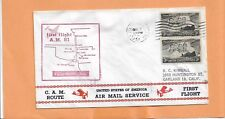 FIRST FLIGHT CAM ROUTE AM 81 FAYETTEVILLE ALA / FORT WORTH TEX DEC 7,1954 81S54