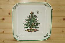 """Spode Christmas Tree-11"""" Square BAKER, No rim-  Made in England!"""
