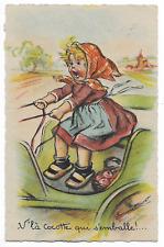 """CPA """" GERMAINE BOURET * V'là Cocotte qui s'emballe!....  *"""