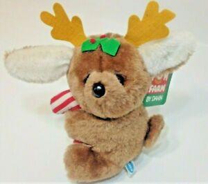 """Dakin Rumball Reindeer Brown Plush Fun Farm Friends Stuffed Animal Candy Cane 6"""""""
