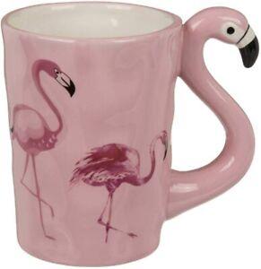 Flamant Rose Poignée Rose Oiseau Tasse Filles Femmes Fête des Mères Cadeau