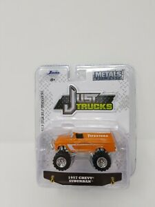 Jada Just Trucks Orange 1957 Chevy Suburban Wave 21 Firestone Logo NEW