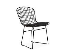 Bertoia Wire CHAIR Structure Lacquered Black Cushion Nero Version Total Black