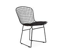 Bertoia Wire CHAIR Structure Lacquée Noire Coussin Noir Version Total noir