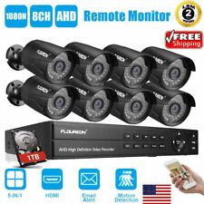 Floureon 8Ch Cctv Security Camera System Hd 1080P Outdoor Video Surveillance Dvr