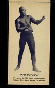 1947 Kid Herman Heavyweight Champs Jack Johnson rare thick stock, narrow card