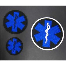 STAR OF LIFE  medical services cloth badges with choice of backings
