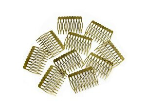 """Metal Millinery or Veil Hair Comb 2"""" Wide Bronze - 10 Pieces"""
