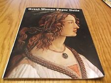 Great Women Paper Dolls Bellerophon Books 2000 Pocahontas,Joan Of Arc Etc. 2000