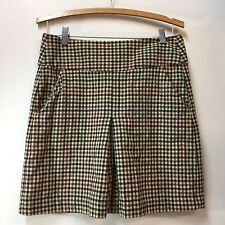 Banana Republic Skirt Size 4 Wool Lined Autumn Check Pattern Single Front Pleat